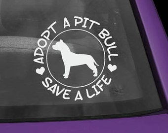 Pit Bull Adopt Decal