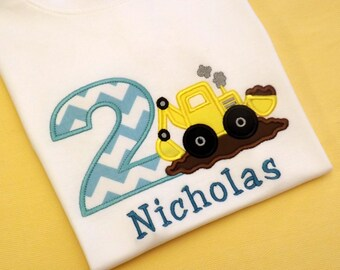 Front End Loader Birthday T-Shirts and Bodysuits