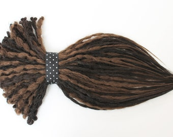 1/4 Set Brown Mixed Crochet Dread Extension. Double or Single Ended Dreads, 20 inches.