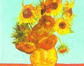 Vincent van Gogh - Sunflowers art napkin Decoupage