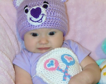 Crochet Purple Care Bear Costume, Share Bear or Custom - il_340x270.557752756_9d6s