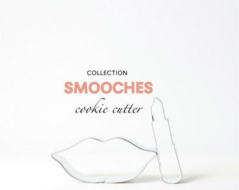 Smooches Cookie Cutter Collection Set - 2 piece - Valentine's Day - Cookies - Custom - Makeup - Kiss - Lips