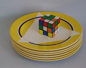 SALE Villeroy & Boch plates by designer Adam D Tihany. Retro 1980s / 1990s hotel ware 6 available
