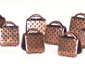 Antique Copper end crimps 6 x 6 mm