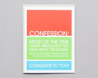 Congrats New Job I Don't Know What I'm Doing Greeting Card