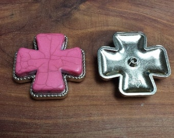 2 Cross Conchos Fuschia 2""