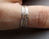 Build A Set! Super Skinny Stacking,Knuckle, or Thumb Rings,Gold Rings,Stacking Rings,Knuckle Rings,Skinny Rings,Thin Rings, Hammered Ring