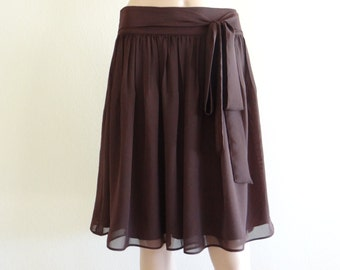 Brown Skirt. Knee Length Skirt