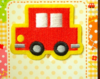 2 pcs Cute and Iron On Applique-- Red Car