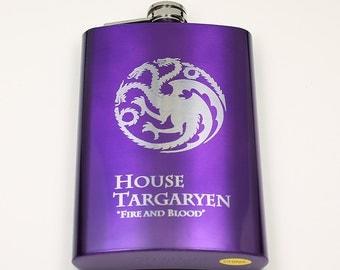 Game of Thrones 8 oz House Targaryen Flask
