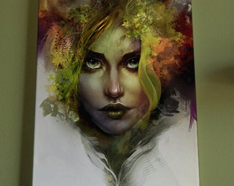 Forest - Giclee Canvas Print - female, nature, leaves, green