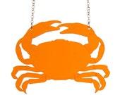Crab necklace - laser cut acrylic