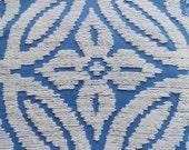 "DOWNSIZING SHOP SALE...Blue Wedding Ring Chenille Vintage Bedspread Fabric Piece...18  x  24"""