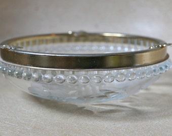 Beautiful decorated glass bowl