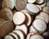 60 Hemlock branch Wood slices for crafts table confetti vase filler weddings
