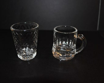 Federal Glass Shot Glasses Set of 2