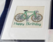 Green bicycle birthday card