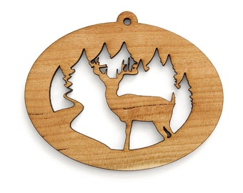 Deer Ornament - Timber Green Woods Northwoods Collection