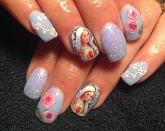 Our Lady of FATIMA RELIGIOUS Nail Decals