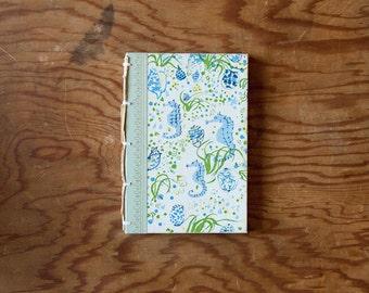 sea horse hand made journal // hard bound journal