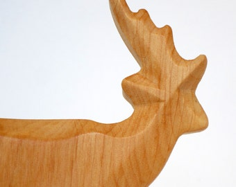 Wooden Deer, Waldorf toy, ecological toy