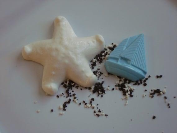 white chocolate starfish