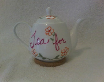 20% Off Use Coupon in the Description - Hand Painted Tea for One Teapot