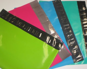 "50 12""x15.5"" Colored Poly Mailer Envelopes - See Colors"