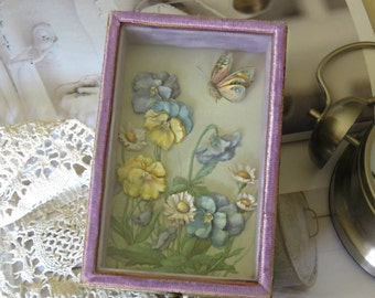 Vintage Jewelry Box / Trinket Box / Shadow Box / OOAK / Mother's Day Gift