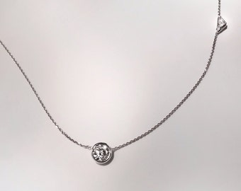 Triangle Cut Diamond & Solitaire Necklace