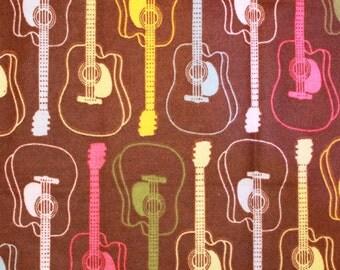 Ribbon Baby Blanket -- Girl Guitars