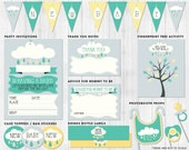 Neutral Baby Shower Party Printables & Activities // Cloud theme