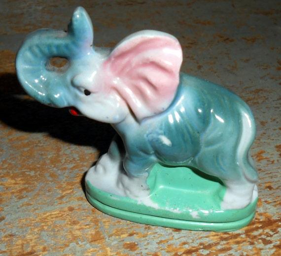 Vintage Figurine Elephant Porcelain Elephant Elephant