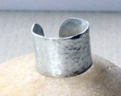 Customize Plain Band Style Ring- Plain without stamping- Hammered and Satin Finish - Unisex