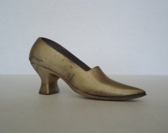 Vintage Brass High Heel Shoe