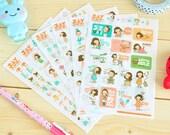 Juicy Company Diary Deco Sticker Set - Korean Sticker - Filofax - 6 sheets in