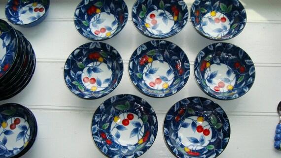... Cherry Deep Bowls / Rice Bowls / Cereal Bowls / Soup Bowls [Dine