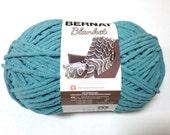 Bernat Big Blanket Yarn Light Teal Large Skein 300 Grams New Home Decor Color