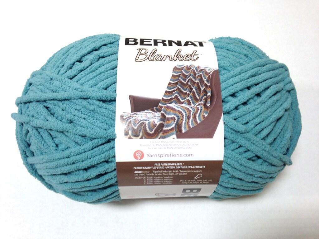 Bernat Big Blanket Yarn Light Teal Large Skein 300 Grams New