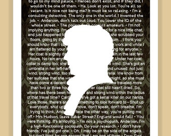BBC SHERLOCK Best Of Quotes modern print poster