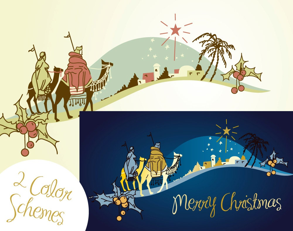 Christmas Nativity Clipart Black And White