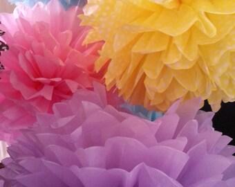 Tissue Paper Pom Poms Set of 8