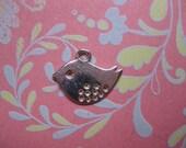 Bird  charm sterling silver plated  charm jewelry charm tiny bird