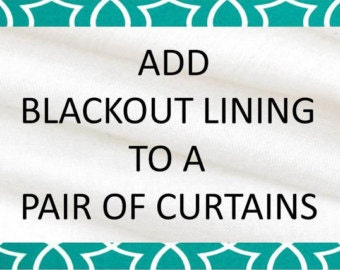 Black lining for curtains