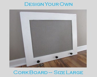 Design your own cork board size large message board for Design your own cork board