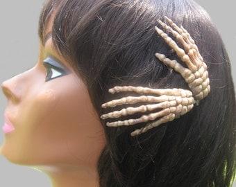Skeleton Hand Hair Clips, Halloween Hair Accessory