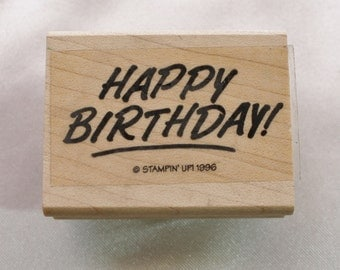 Happy Birthday Rubber Stamp Stampin Up