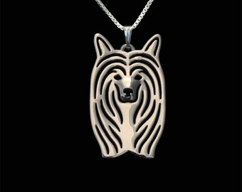 Chinese Crested Powderpuff - sterling silver pendant and necklace