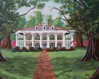 Oak Alley Plantation on 12 X 16 Canvas
