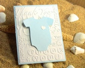10 3-D Handmade Baby Thank You Cards, Baby Shower Thank You Cards, Tiny Heart, Customize Any Color